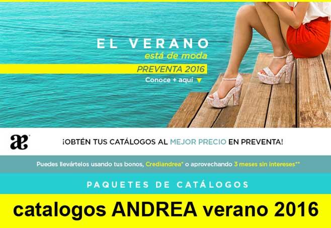 ANDREA preventa de catálogos Verano 2016